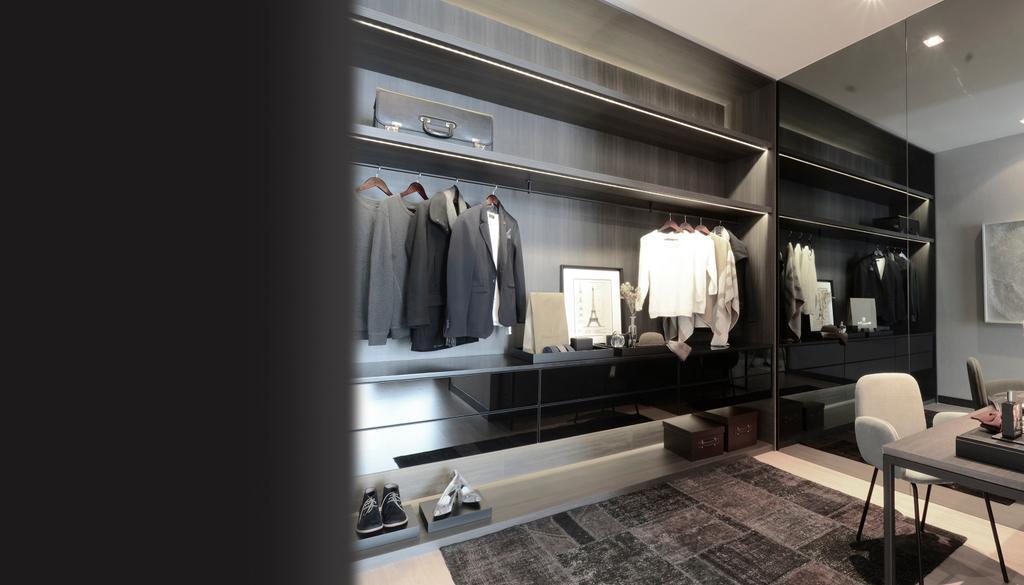 Contemporary, Condo, Bedroom, Green Haven Show Suite B, Malaysia, Architect, 0932 Design Consultants, Wardrobe, Modular, Carpet, Rug, Open Concept, Doorless, Cupboard, Storage, Chair, Furniture, Closet