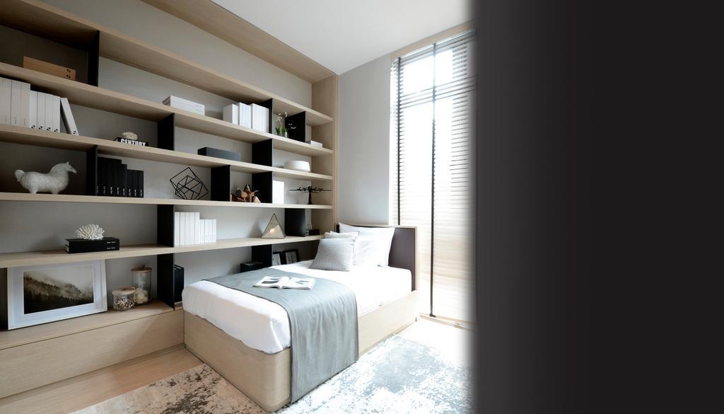 Modern, Condo, Bedroom, Green Haven Show Suite C, Malaysia, Architect, 0932 Design Consultants, Corridor, Indoors, Interior Design, Room