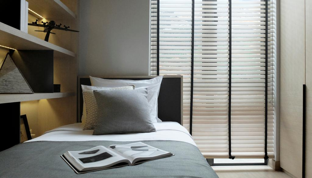 Modern, Condo, Bedroom, Green Haven Show Suite C, Malaysia, Architect, 0932 Design Consultants, Bed, Furniture