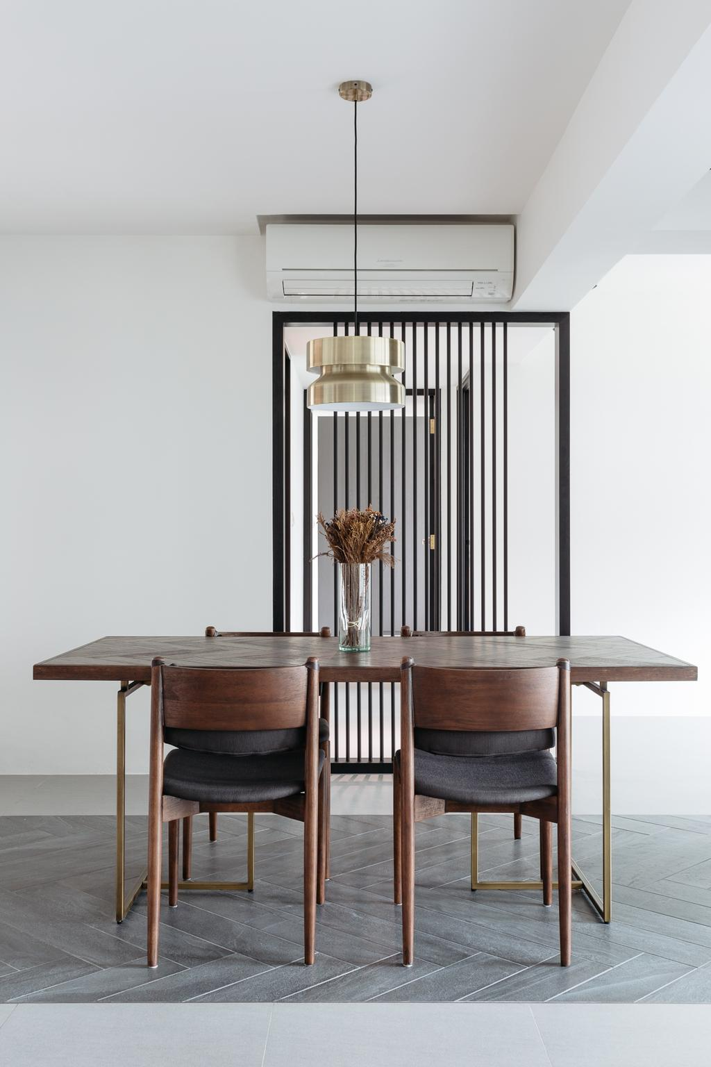 Modern, HDB, Dining Room, Upper Serangoon Crescent (Block 473A), Interior Designer, Habit, Minimalistic, Dining Table, Furniture, Table
