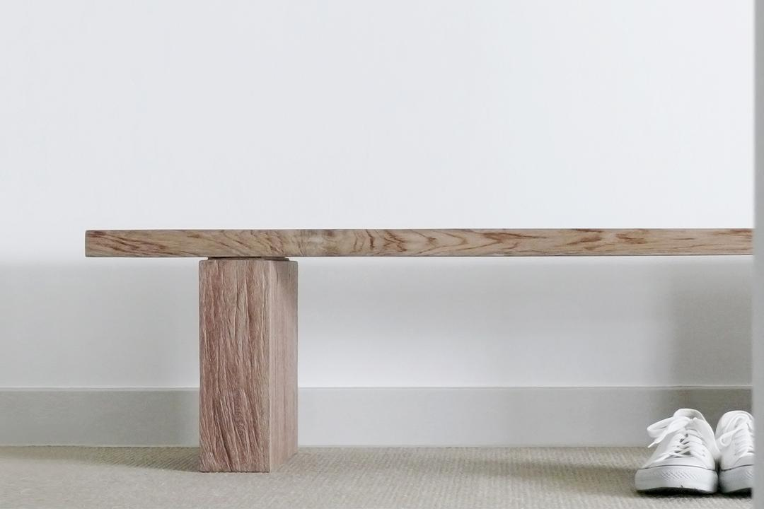 D'Almira, 0932 Design Consultants, Minimalist, Living Room, Condo, Bench, Wooden Bench, Hallway, Foyer, Clothing, Footwear, Shoe, Sneaker, Dining Table, Furniture, Table