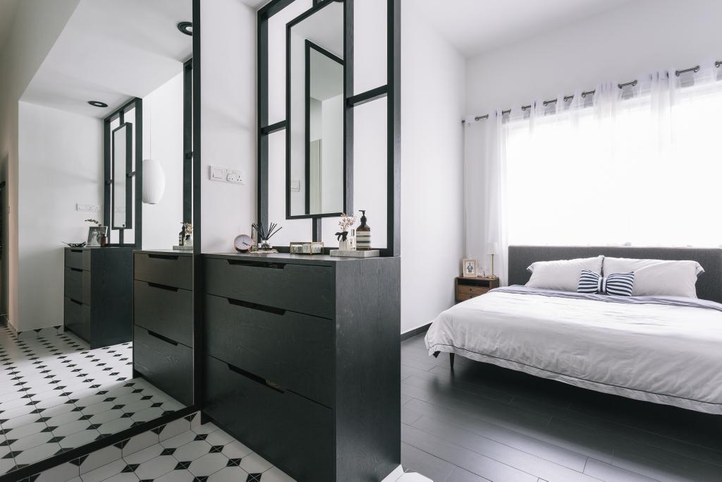 Transitional, Condo, Bedroom, Crescendo Park, Interior Designer, Habit, Furniture, Sideboard, Indoors, Interior Design, Room, Bed