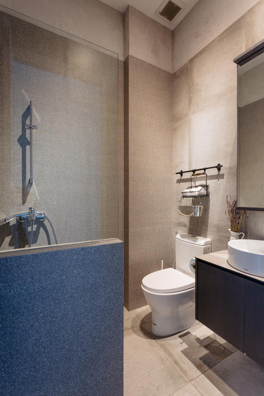 Transitional, Condo, Bathroom, Crescendo Park, Interior Designer, Habit, Flora, Jar, Plant, Potted Plant, Pottery, Vase, Toilet