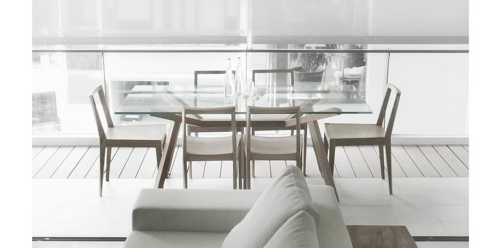Minimalistic, Condo, Balcony, D'Almira, Architect, 0932 Design Consultants, Blinds, Wooden Deck, Grille, Dining Area, Chair, Furniture, Dining Table, Table