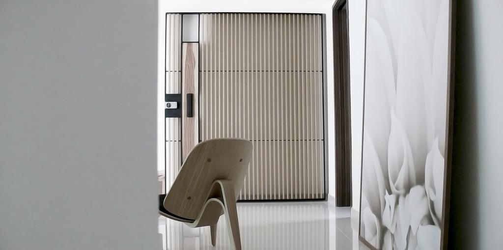 Minimalistic, Condo, Living Room, D'Almira, Architect, 0932 Design Consultants, Armchair, Wall Art, Chair, Furniture, Aluminium