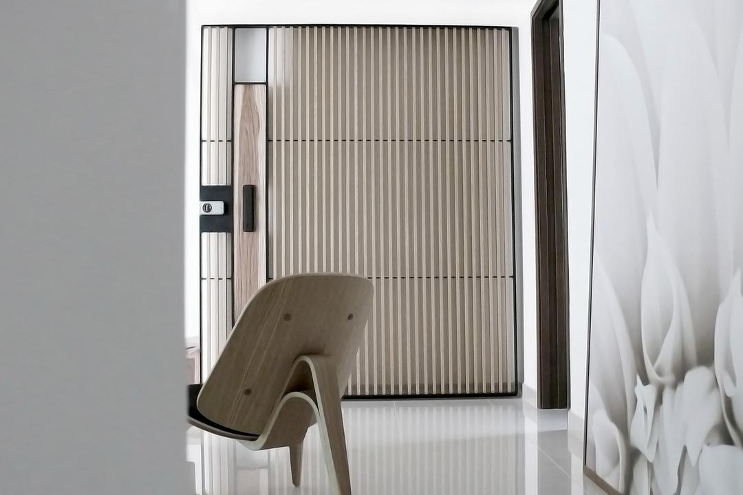 D'Almira, 0932 Design Consultants, Minimalist, Living Room, Condo, Armchair, Wall Art, Chair, Furniture, Aluminium