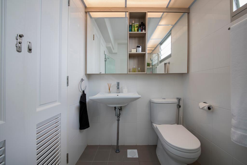 Contemporary, HDB, Bathroom, Choa Chu Kang (Block 810B), Interior Designer, Meter Square, Minimalistic, Indoors, Interior Design, Room, Toilet, Building, Housing, Loft