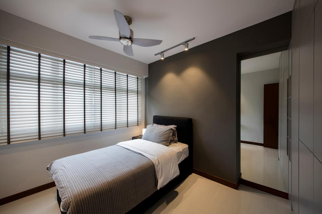 Contemporary, HDB, Bedroom, Choa Chu Kang (Block 810B), Interior Designer, Meter Square, Minimalistic, Indoors, Interior Design, Room, Bed, Furniture