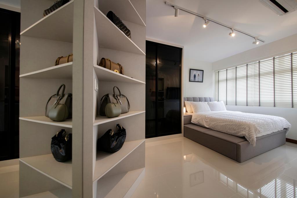 Contemporary, HDB, Bedroom, Choa Chu Kang (Block 810B), Interior Designer, Meter Square, Minimalistic, Indoors, Interior Design, Bed, Furniture