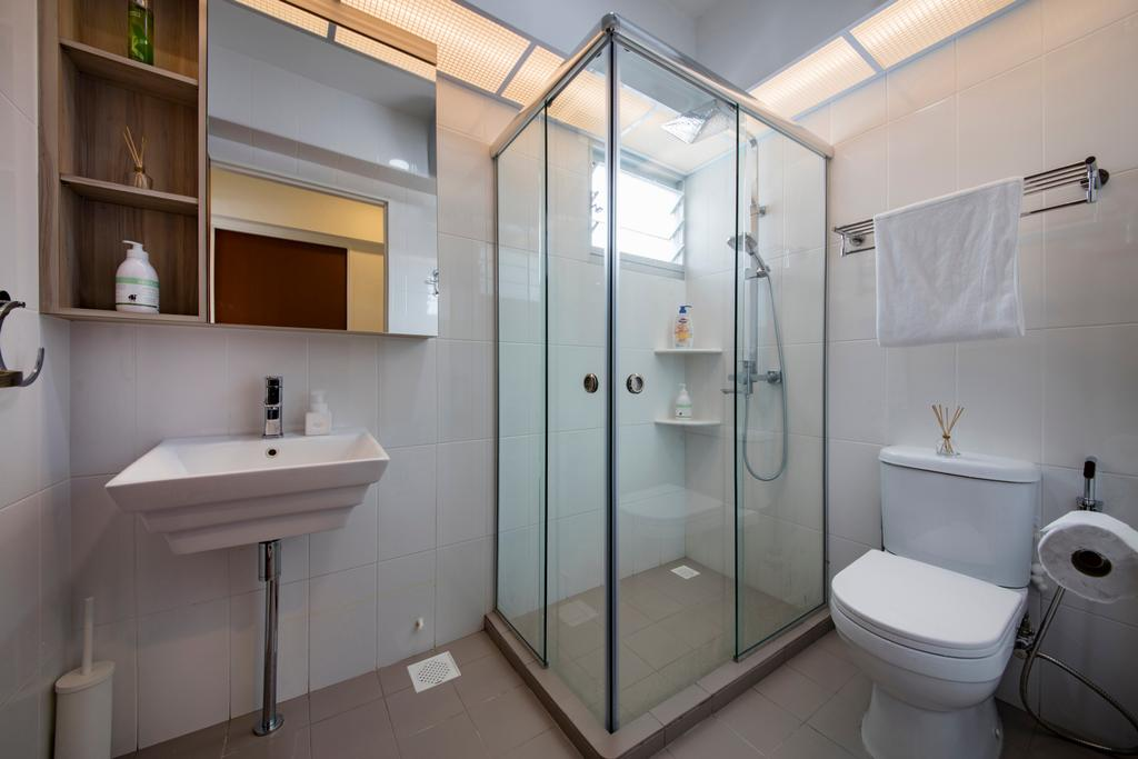 Contemporary, HDB, Bathroom, Choa Chu Kang (Block 810B), Interior Designer, Meter Square, Minimalistic, Toilet, Indoors, Interior Design, Room