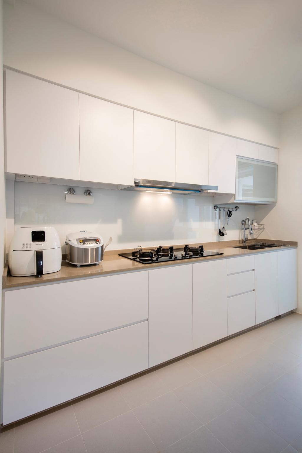 Contemporary, HDB, Choa Chu Kang (Block 810B), Interior Designer, Meter Square, Minimalistic, Indoors, Interior Design, Kitchen, Room, Cooker