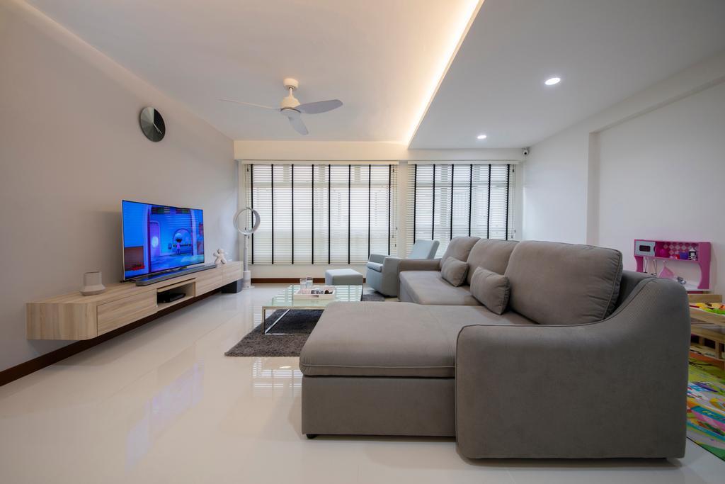 Contemporary, HDB, Living Room, Choa Chu Kang (Block 810B), Interior Designer, Meter Square, Minimalistic, Couch, Furniture