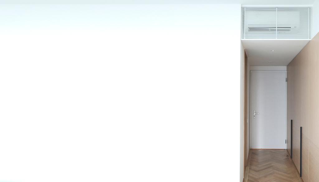Modern, Condo, Bedroom, Evelyn, Architect, 0932 Design Consultants, Wardrobe, Herringbone Pattern, White Wall