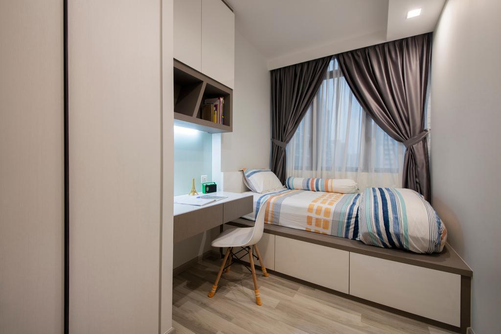 Contemporary, Condo, Bedroom, La Fiesta, Interior Designer, Space Define Interior, Kids Room, Sons Room, Boys Room, Indoors, Interior Design, Room, Bed, Furniture