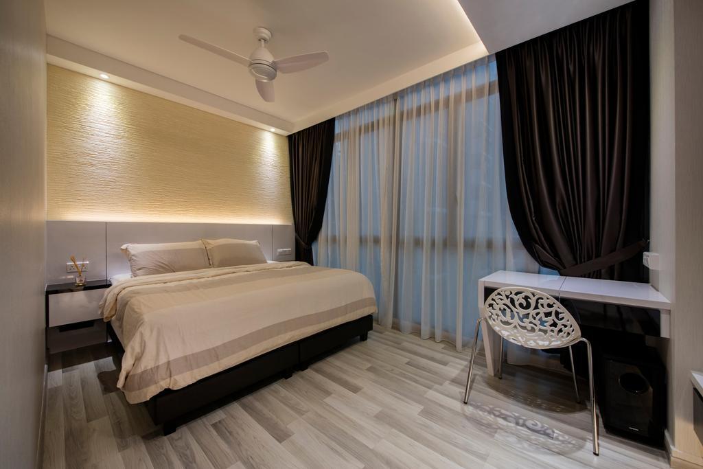 Contemporary, Condo, Bedroom, La Fiesta, Interior Designer, Space Define Interior, Bed, Furniture, Chair, Indoors, Interior Design, Room