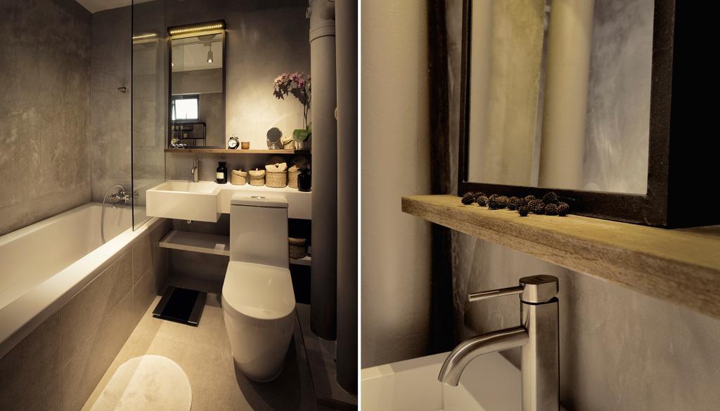 Contemporary, HDB, Bathroom, G Masionette, Architect, 0932 Design Consultants, Sink, Indoors, Interior Design