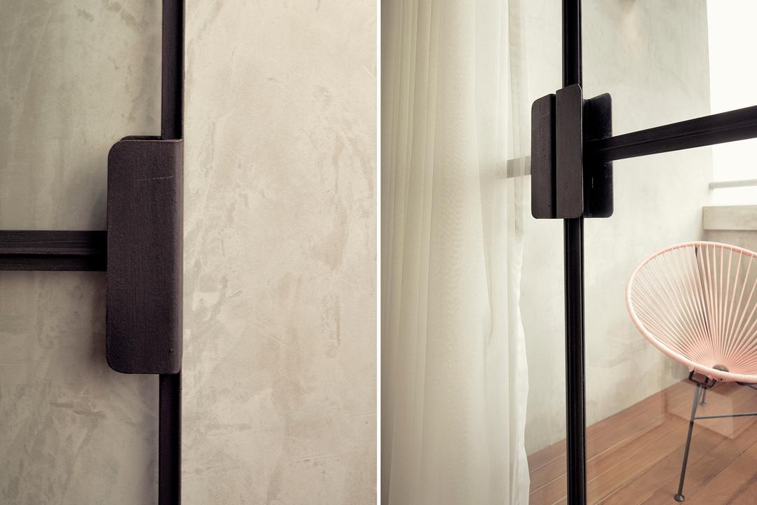 G Masionette, 0932 Design Consultants, Contemporary, Balcony, HDB, Light, Traffic Light, Chair, Furniture