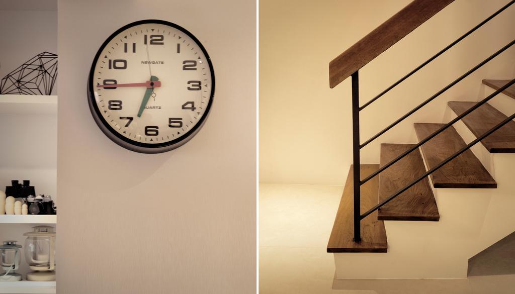 Contemporary, HDB, G Masionette, Architect, 0932 Design Consultants, Clock, Wall Clock