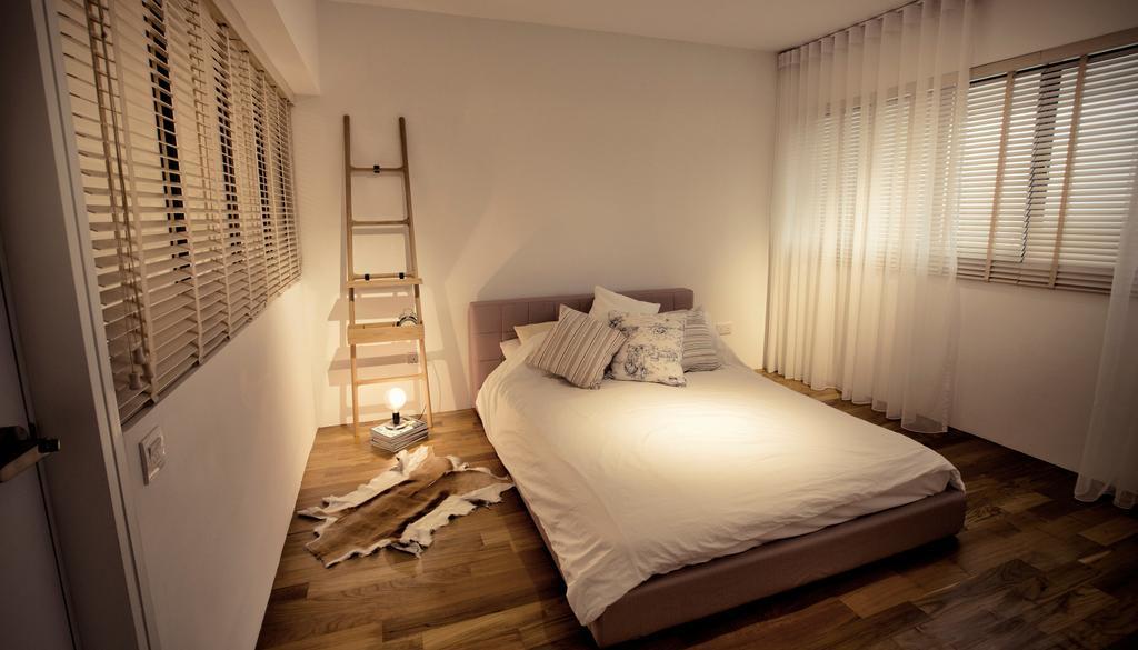 Contemporary, HDB, Bedroom, G Masionette, Architect, 0932 Design Consultants, Bed, Furniture, Indoors, Interior Design, Room, Shelf