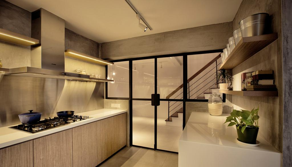 Contemporary, HDB, Kitchen, G Masionette, Architect, 0932 Design Consultants, Flora, Jar, Plant, Potted Plant, Pottery, Vase, Banister, Handrail, Staircase, Indoors, Interior Design, Pot