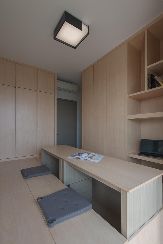 Minimalistic, Condo, Study, Riversails, Interior Designer, Dyel Design, Shelf
