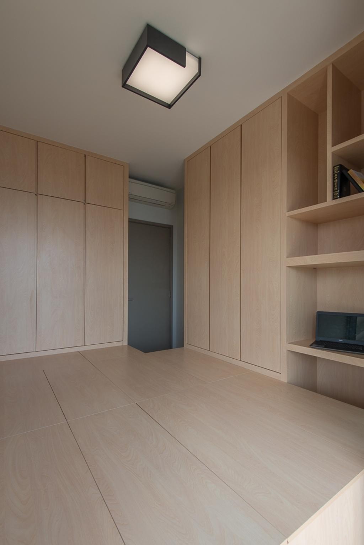 Minimalistic, Condo, Study, Riversails, Interior Designer, Dyel Design, Flooring, Shelf