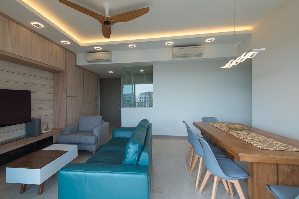 Minimalistic, Condo, Living Room, Riversails, Interior Designer, Dyel Design, Couch, Furniture, Chair, HDB, Building, Housing, Indoors, Room