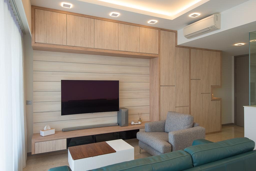 Minimalistic, Condo, Living Room, Riversails, Interior Designer, Dyel Design, Couch, Furniture, Indoors, Interior Design, Electronics, Entertainment Center
