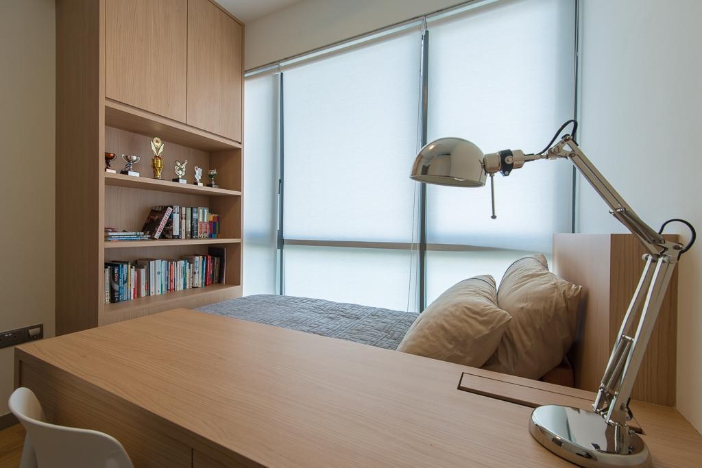 Minimalistic, Condo, Bedroom, Riversails, Interior Designer, Dyel Design, Bookcase, Furniture, Indoors, Interior Design