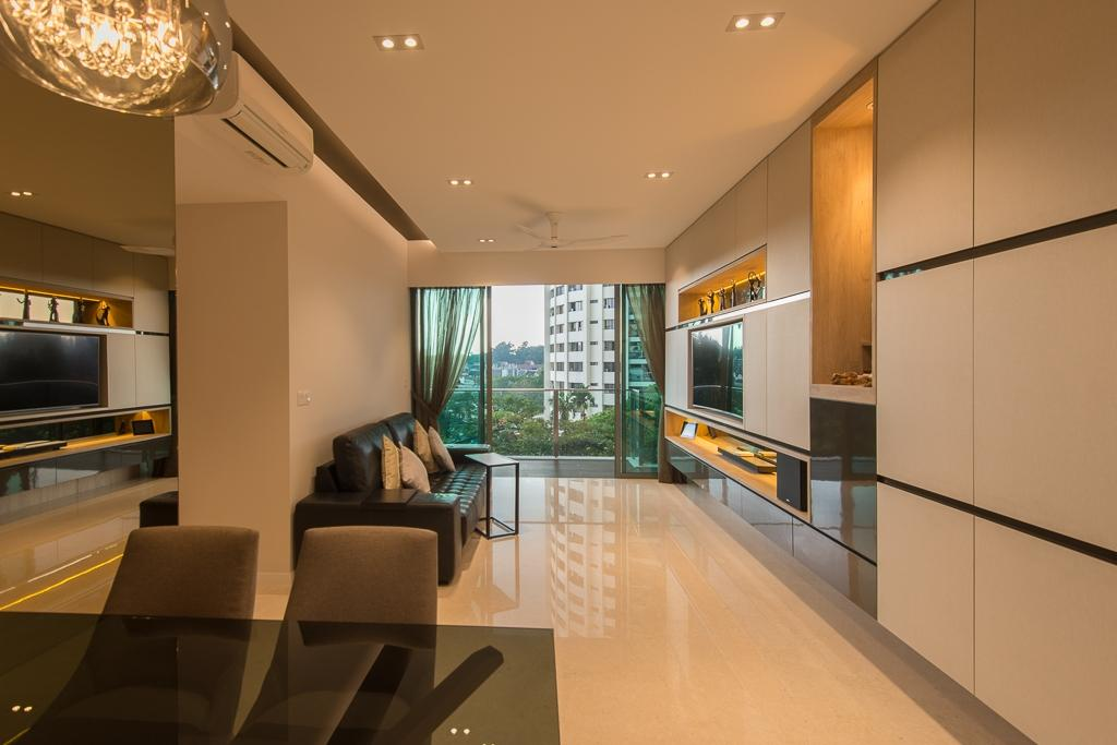 Contemporary, Condo, Living Room, Thomson Three, Interior Designer, Dyel Design, Modern, Couch, Furniture, Electronics, Entertainment Center, Indoors, Interior Design, HDB, Building, Housing