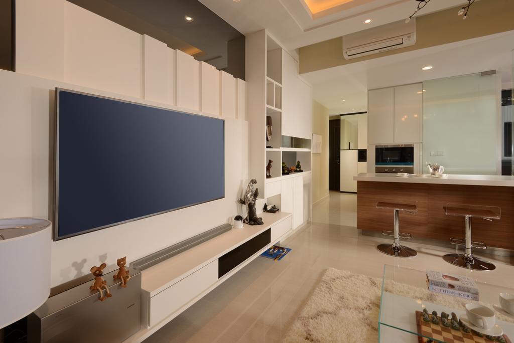 Contemporary, Condo, Living Room, Jewel@Buangkok, Interior Designer, The Orange Cube, Indoors, Interior Design, Banister, Handrail