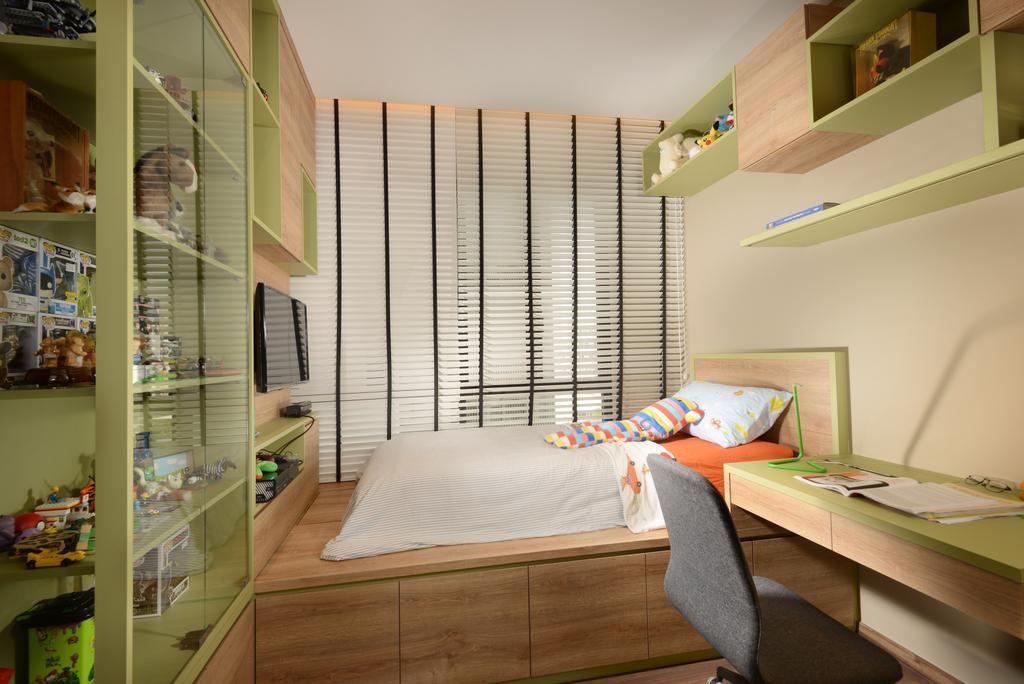 Contemporary, Condo, Bedroom, Jewel@Buangkok, Interior Designer, The Orange Cube, Couch, Furniture