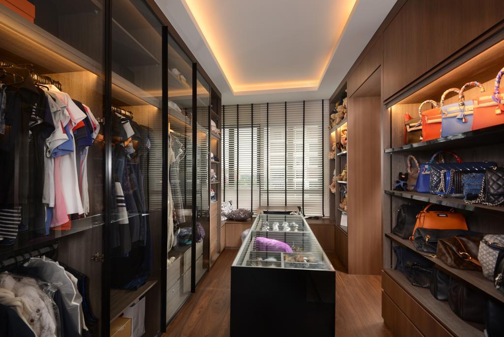 Contemporary, Condo, Bedroom, Jewel@Buangkok, Interior Designer, The Orange Cube, Shelf, Apparel, Clothing