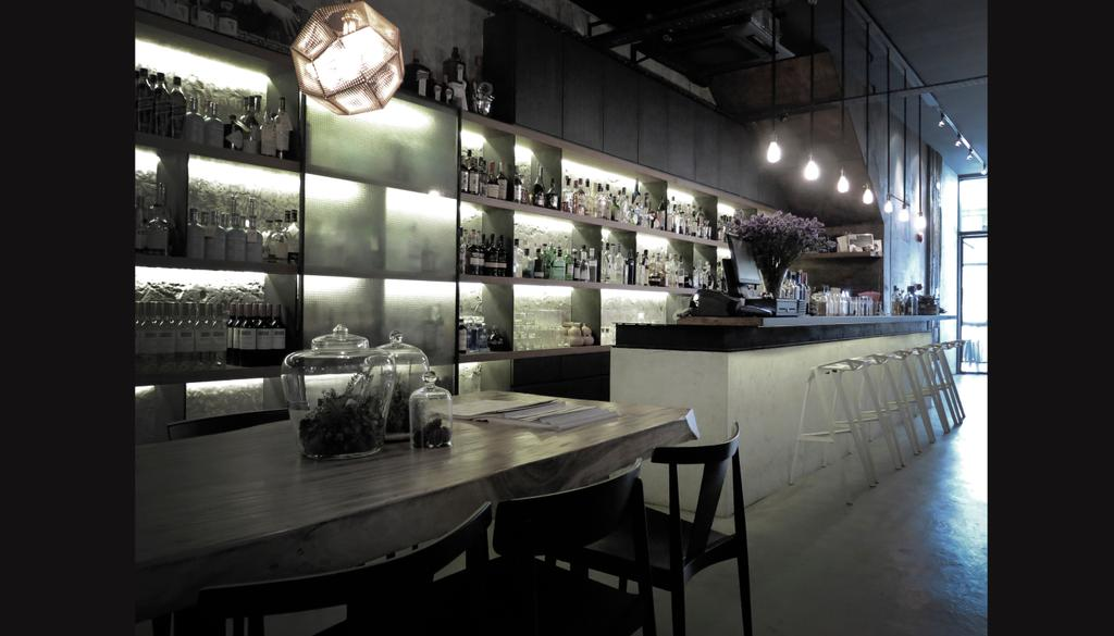 Tess Bar & Kitchen, Commercial, Architect, 0932 Design Consultants, Industrial, Chair, Furniture, Collage, Poster, Cafe, Restaurant, Dining Table, Table