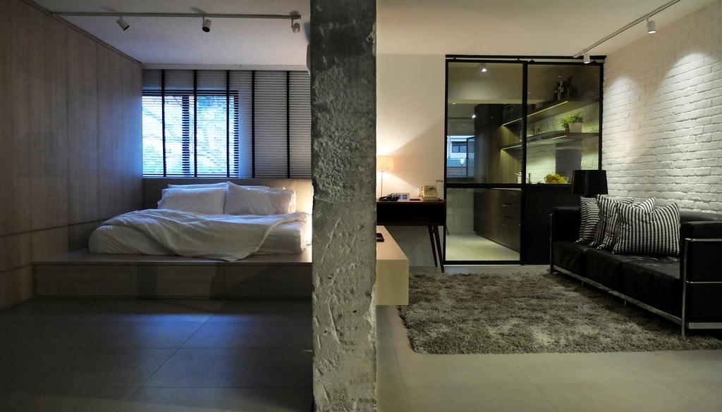 Industrial, HDB, Bedroom, #0432, Architect, 0932 Design Consultants, Couch, Furniture