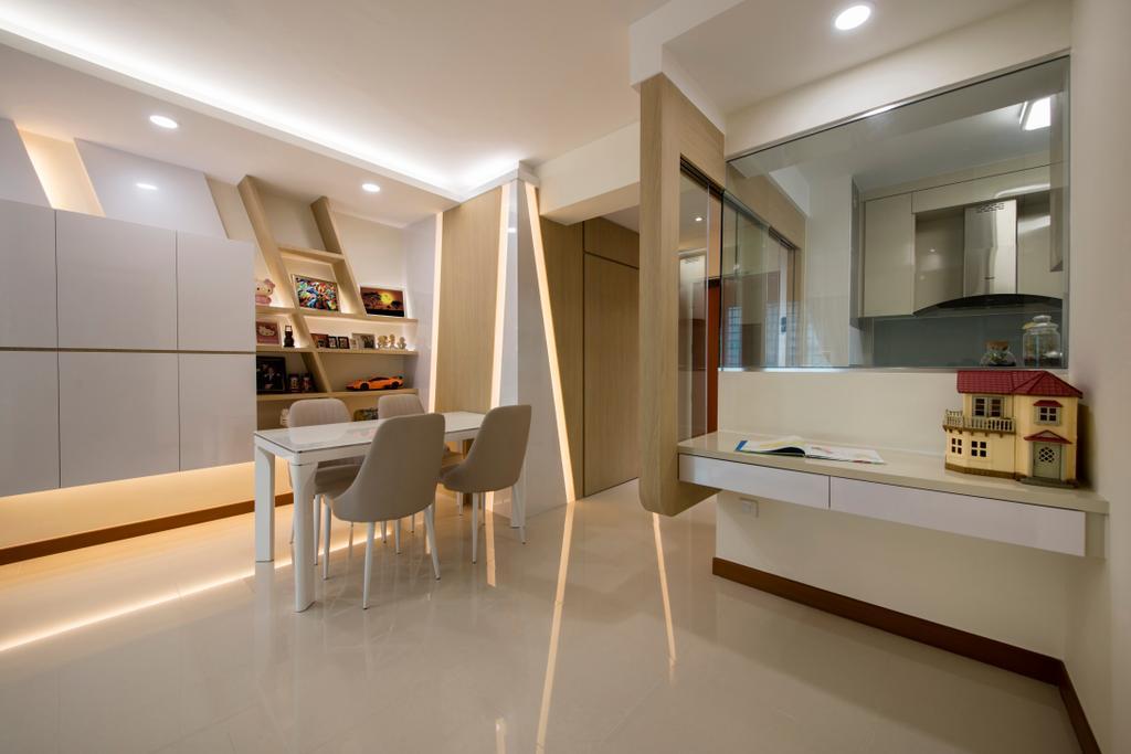 Modern, HDB, Dining Room, Bendemeer Road (Block 10), Interior Designer, Starry Homestead, Chair, Furniture, Dining Table, Table, Indoors, Interior Design