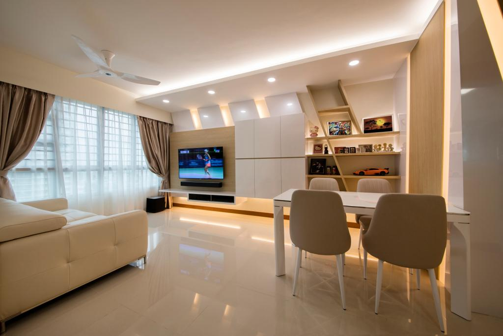 Modern, HDB, Living Room, Bendemeer Road (Block 10), Interior Designer, Starry Homestead, Chair, Furniture, Couch, Electronics, Entertainment Center, Home Theater, Indoors, Room