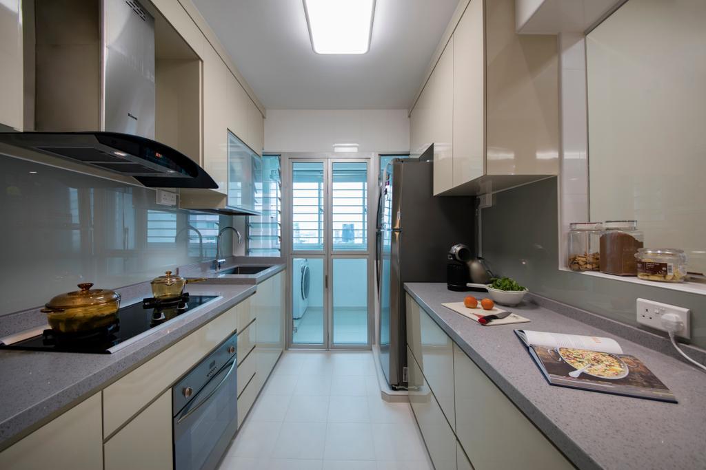 Modern, HDB, Kitchen, Bendemeer Road (Block 10), Interior Designer, Starry Homestead, Indoors, Interior Design, Room, Bowl