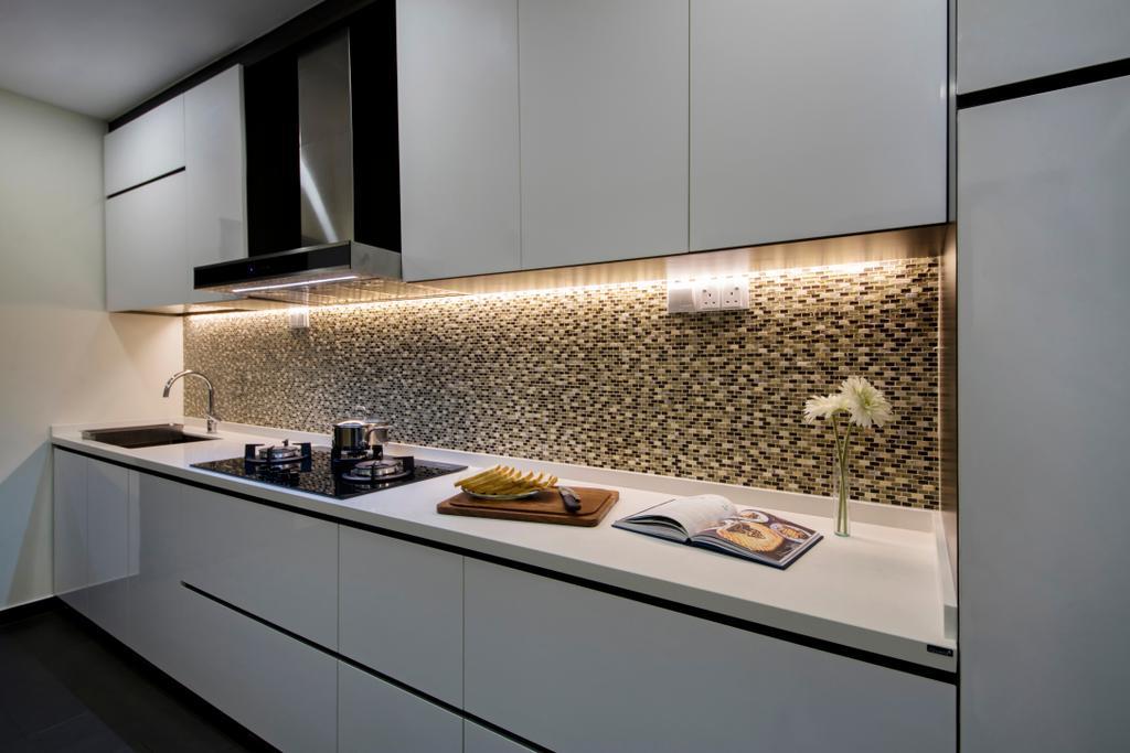 Modern, Landed, Kitchen, Paya Lebar Road, Interior Designer, Starry Homestead, HDB, Building, Housing, Indoors, Loft