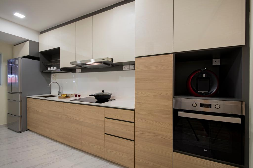 Modern, Landed, Kitchen, Tai Hwan Road, Interior Designer, Starry Homestead, Appliance, Electrical Device, Oven, Electronics, Loudspeaker, Speaker, HDB, Building, Housing, Indoors, Loft