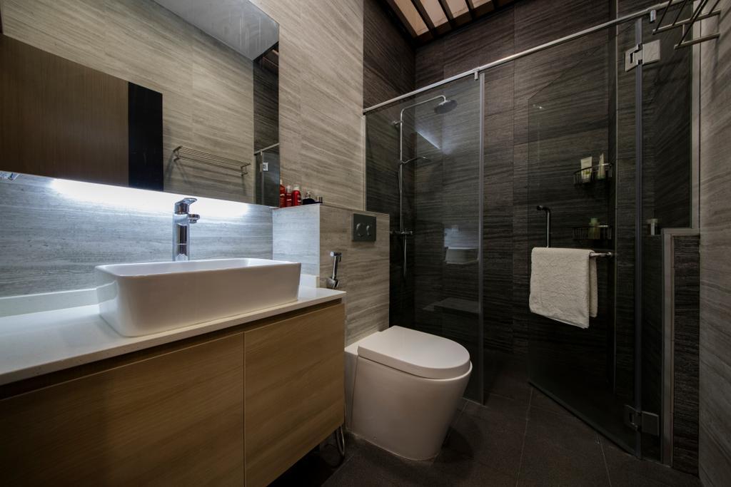 Modern, Landed, Bathroom, Tai Hwan Road, Interior Designer, Starry Homestead, Indoors, Interior Design, Room, Toilet