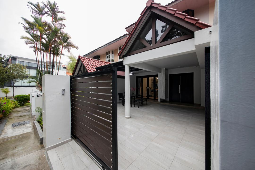 Tai Hwan Road, Starry Homestead, Modern, Living Room, Landed, Path, Walkway, Arecaceae, Flora, Palm Tree, Plant, Tree