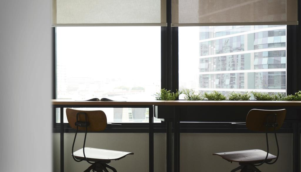 Coen, Commercial, Architect, 0932 Design Consultants, Industrial, Table By The Window, Planter Box, High Desk, High Stool, Window View, Chair, Furniture