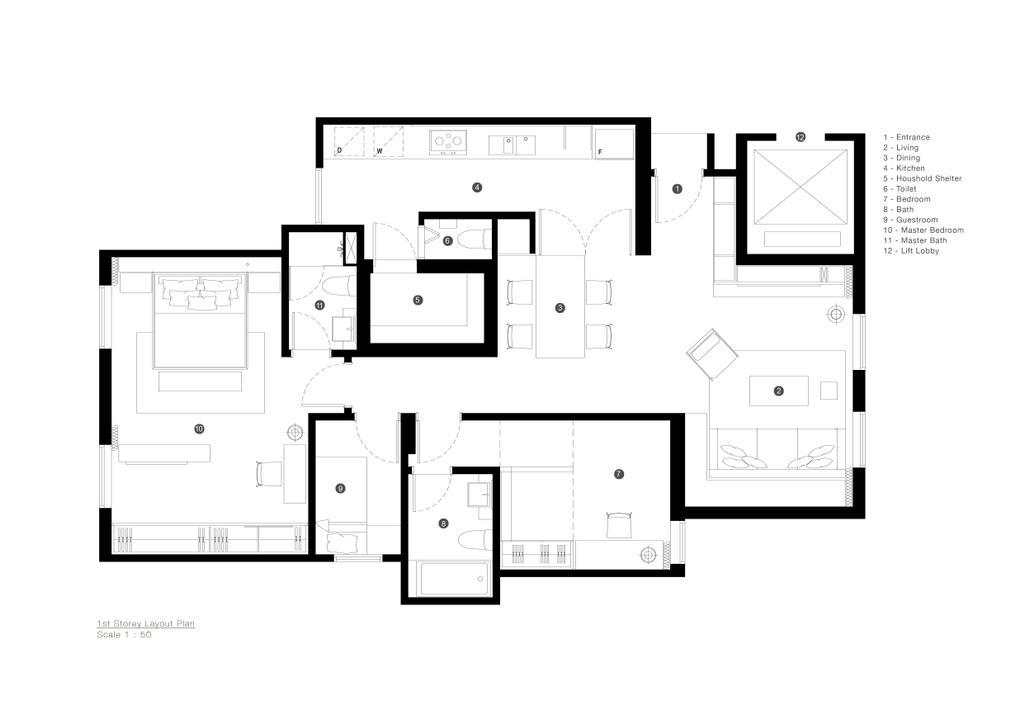 Minimalistic, Condo, D Apartment, Architect, 0932 Design Consultants, Floor Plan, Diagram, Plan