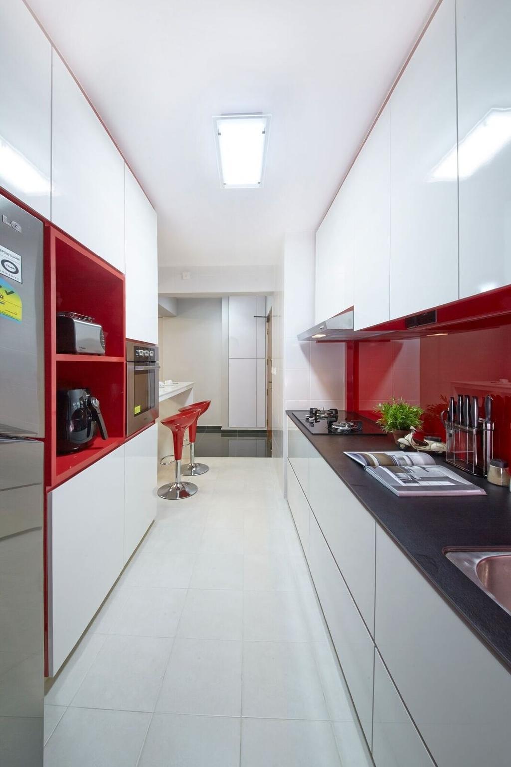 Contemporary, HDB, Kitchen, Fernvale Road (Block 453B), Interior Designer, Kejico, Modern, Flora, Jar, Plant, Potted Plant, Pottery, Vase, Sink, Bottle