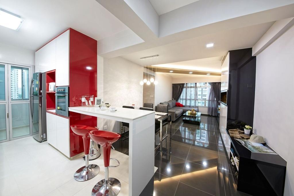 Contemporary, HDB, Dining Room, Fernvale Road (Block 453B), Interior Designer, Kejico, Modern, Indoors, Room
