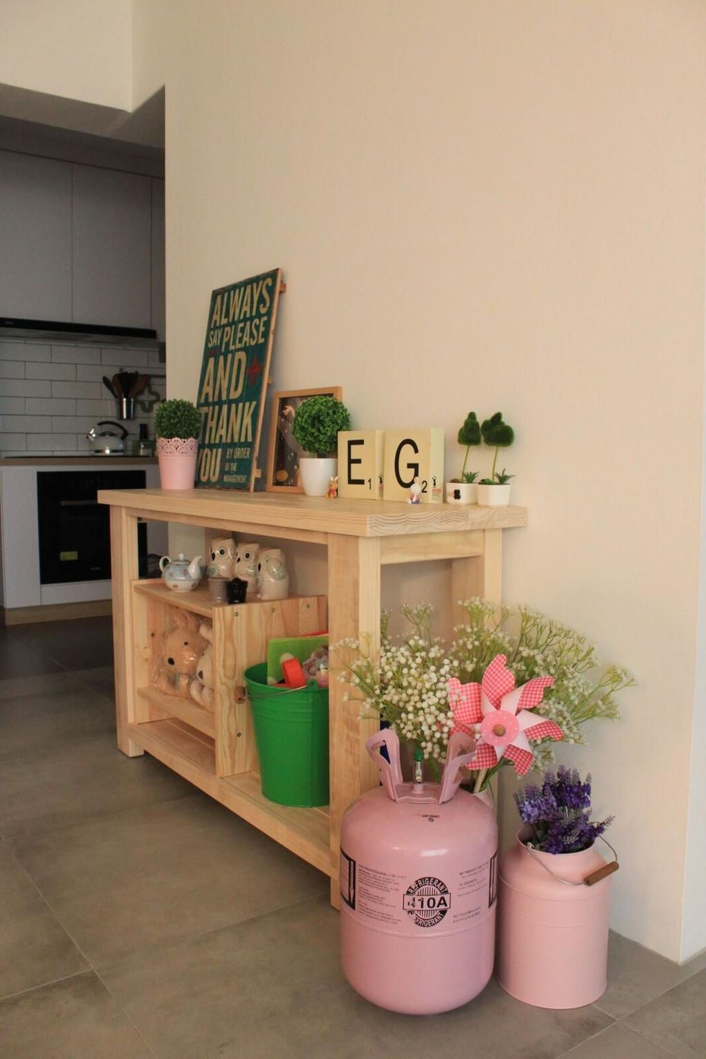 Scandinavian, HDB, Living Room, Tampines Avenue 8 (Block 868B), Interior Designer, Kejico, Industrial, Flora, Jar, Plant, Potted Plant, Pottery, Vase, Sink, Appliance, Electrical Device, Oven