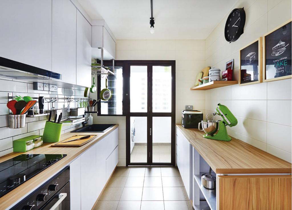 Scandinavian, HDB, Kitchen, Tampines Avenue 8 (Block 868B), Interior Designer, Kejico, Industrial, Indoors, Interior Design, Room, Sink, Cleaning