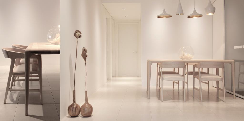 Minimalistic, Condo, Dining Room, D Apartment, Architect, 0932 Design Consultants, Pendant Lamp, Tom Dixon, Display Ornament, Dining Table, Furniture, Table, Indoors, Interior Design