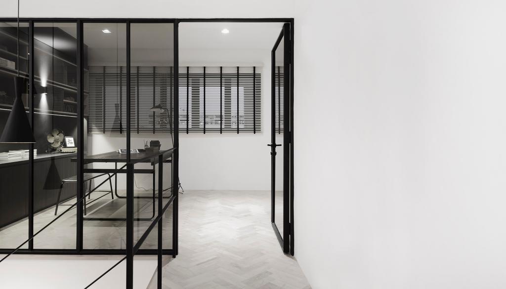 Minimalist, HDB, Study, D Masionette, Architect, 0932 Design Consultants, Chair, Furniture